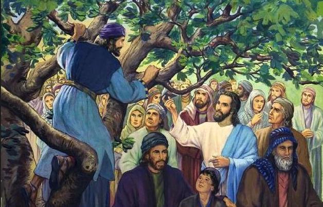 Resultado de imagem para ZAQUEU RECEBE JESUS